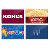 TwoSmiles Coupon for Select Gift Cards from Kohl's, Gap, AMC, Toys R Us & More