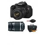 Canon EOS Digital Rebel T4i 18MP SLR Camera w/ 18-55mm Lens + 55-250mm IS Lens