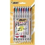 24-pack BIC 0.9mm Mechanical Pencils with Colorful Barrels