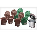 Ekobrew Refillable Cups For Keurig Brewers: 1 for $8, 2-Pack $13, Stainless Steel Elite $13, 3-Pack $19, Starter Kit: Filter, Travel Mug & Scoop $15