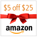 Amazon: $5 off $25 Promotional Credit
