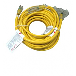 Workforce 75 ft. and 2 ft. Tri-Tap 12/3 Lighted Outdoor Extension Cord (2-Pack)