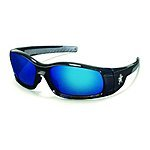 Safety glasses / Crews SR118B Swagger Brash Look Polycarbonate Dual Lens Glasses with Polished Black Frame and Blue Diamond Mirror Lens $3.80 add on item @ amazon