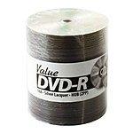 JVC Taiyo Yuden (Valueline) 16X DVD-R 4.7GB Silver Lacquer Blank Media Discs in Tape Wrap / 100pk + 7mm Slim Black Single DVD Case / 100pk $49.70 ac / fs @ s4t