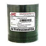 JVC Taiyo Yuden Premium Line White Inkjet Hub Printable 16X DVD-R Media in Plastic Wrap / 100pk + 7mm Slim Black Single DVD Case / 100pk $65.32 ac / fs @ s4t