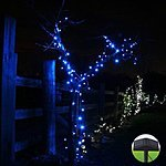 InnooTech Blue Christmas Tree Lights LED string lights Solar Powered Outdoor ... $11.89 or InnooTech 200 LED Solar Garden String Fairy Lights ... $15.00 ac / sss eligible @ amazon