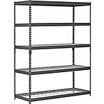 "Edsal 5-Shelf Black Steel 72"" Storage Rack  $49 + Free Store Pickup"