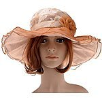 Women's Floral Pattern Chiffon Layer Kentucky Derby Wide Brim Hat - $6.99 +FSSS @ Amazon.com