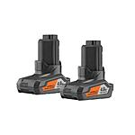 2-Pack Ridgid 12-Volt 4.0 Ah Hyper Lithium-Ion Battery $34.50 + Free Shipping