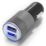 Eleckey 2.1A Dual USB Port Car Charger Portable Travel Charger Rapid Car Charger Auto Adapter - $7.99 AC
