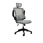 Techni Mobili Executive High Back Chair with Headrest, Silver Gray - $71.99 Shipped