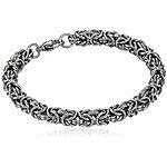 "Men's Stainless Steel Byzantine Chain Bracelet, 8"" $4.43 + Free shipping @ Amazon"