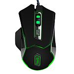 HAVIT HV-MS720 USB Wired Gaming Mouse, Green Light, 4 Adjustable DPI:800/1600/2400/3200, 6 Buttons - $13.59 AC @ Amazon