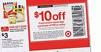 Target Deal: UPDATE SOME (but not all) REGIONS TARGET B&M $10 off $50 or $10 GC wys $50 Grocery/Beverage purchase Coupon exlusns apply valid 8/24-30
