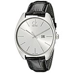 Calvin Klein Men's Swiss Watch with Sapphire Crystal for $63