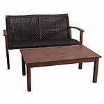 Lowe's: allen + roth 2-Piece Aluminum Patio Loveseat and Coffee Table Set $154 (Save 50%) YMMV