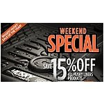 Save 15% All Husky Liner Products (Car Mats) - Ends 08/19