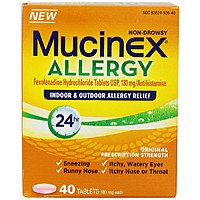 Shnoop Deal: Mucinex Allergy 24 Hour Indoor & Outdoor Allergy Relief 180 mg Tablets; 40 ct $8.99 f/s
