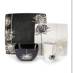 16-Piece Marianne Dinnerware Set in Black and White $84.99 + ship @beyondtherack.com