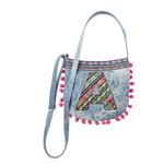 Initial Pom Pom Denim Crossbody Bag $10.49 + ship @shopjustice.com/