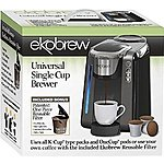 Universal K cup Brewer $79.99 + 300 paper filters, plastic refillable cup, stainless refillable cup, cleaning tablets all Free.  And all shipped free from Amazon.com
