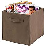 Honey Can Do 4-Pack Non-Woven Foldable Storage Cube in Taupe and Natural $13.62 at Walmart.com