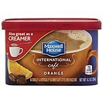 4 Pack 9.3 oz Cans Maxwell House International Coffee (orange cafe) - 8.00 or Less - Free Ship Amazon S&S