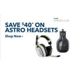 Save $40 on Select Astro and Skullcandy Gaming Headsets(As low as 39.99$) - Bestbuy GCU membership required