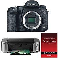 B&H Photo Video Deal: Canon EOS 7D Mark II DSLR Camera + PIXMA Pro-100 Printer Kit