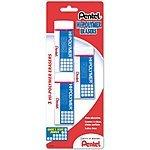 Pentel Hi-polymer Block Eraser, Large, 3 Pack $2.28 FS with Prime