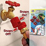 Snap On Hose Connector Set - Instant Garden Hose Connectors & Pressure Nozzle  $4 Shipped (or 2 for $7)