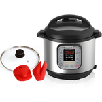Instant Pot IP-DUO60 + Glass lid + Mini Mitts Pressure Cooker $136.95 + Free Shipping