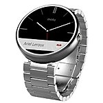 Motorola Moto 360 Smartwatch for Android Devices w/ Steel Band  $150 + Free Store Pickup