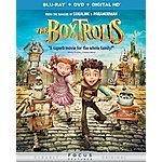 The Boxtrolls (Blu-ray + DVD + DIGITAL HD with UltraViolet) $9