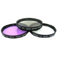 Zeikos ZE-FLK 40.5-86mm Multi-Coated 3 Piece lens Filter Kit (UV-CPL-FLD) -- $7.25 FS w/ prime