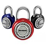 Wordlock Text Standard Padlock, Assorted Colors $3.99  FREE SHIPPING