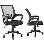 Set of 2 Black Ergonomic Mid Back Mesh Computer Office Desk Chair w/Metal Base $75.99 + FS