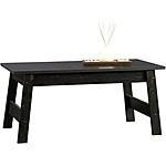 Sauder Beginnings Collection Coffee Table, Black $20 @ Walmart