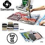 10pc Samsonite Vacuum Storage Bags Set (Multiple Sizes) $19.99 + FS