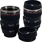 2-Pk Camera Lens 12oz Coffee Mugs with Lid $10.99 @ Staples
