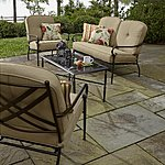 Jaclyn Smith 4 Piece Winslet Seating Set with Glass-Topped Table (was $749.99) NOW $299.99 KMART