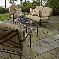 Kmart Deal: Jaclyn Smith 4 Piece Winslet Seating Set with Glass-Topped Table (was $749.99) NOW $299.99 KMART