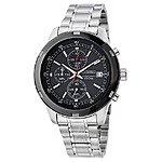 Seiko Men's Chronograph Quartz Watch w/ Stainless Steel Bracelet  $69 + Free Shipping