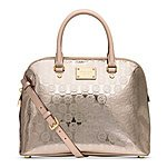 MICHAEL Michael Kors Cindy Large Dome Signature Satchel $222.99 + ship @macys.com
