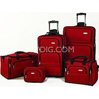 BuyDig Deal: Samsonite 5-Piece Nested Luggage Set Red or Black $89.00 + FS