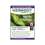 Webroot Internet Security Complete 2015 (Digital Download) - $14.99 with promo code @ Newegg