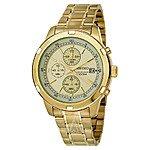 Seiko Men's Chronograph Gold Tone Stainless Steel Bracelet Watch (SKS426) $72 w/ Free Shipping AC