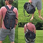 61% off Backpack and Duffel Bag - Available in Vintage Grey and Desert Canvas Colors $19.49- SHIPS FREE@13deals