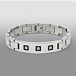 1/10 cttw Diamond ID Bracelet in Stainless Steel $56.24 + ship @sears.com