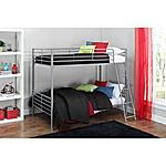 Mainstays Twin over Twin Convertible Bunk Bed $94.70 + FS at Walmart